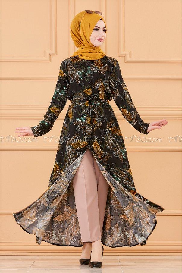 فستان لون اسود 20153