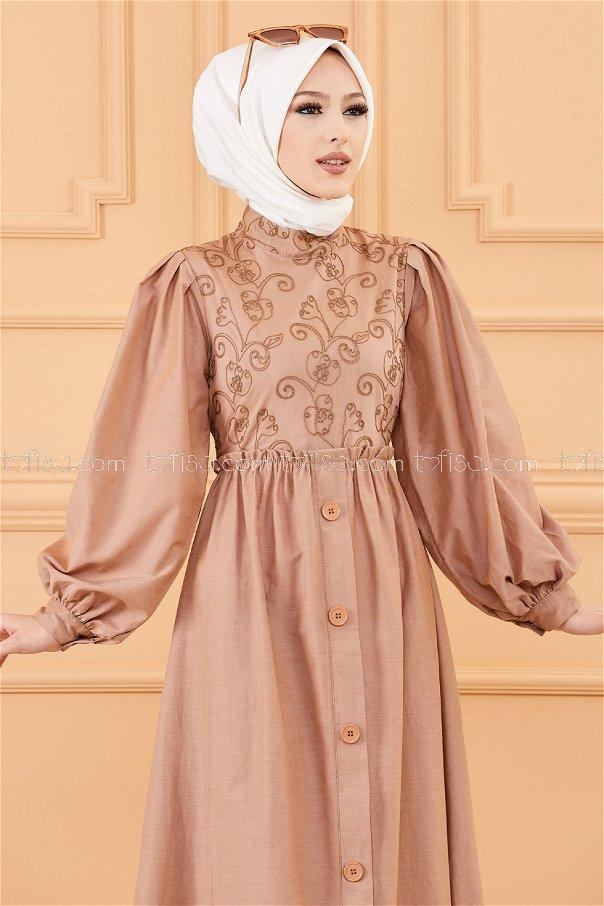 فستان لون داكن 20163