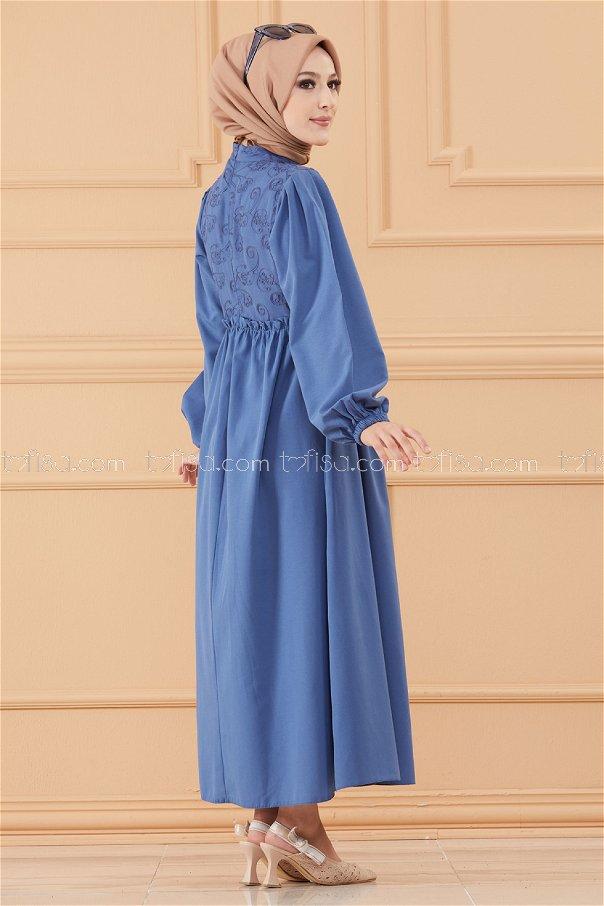 فستان لون ازرق داكن 20163