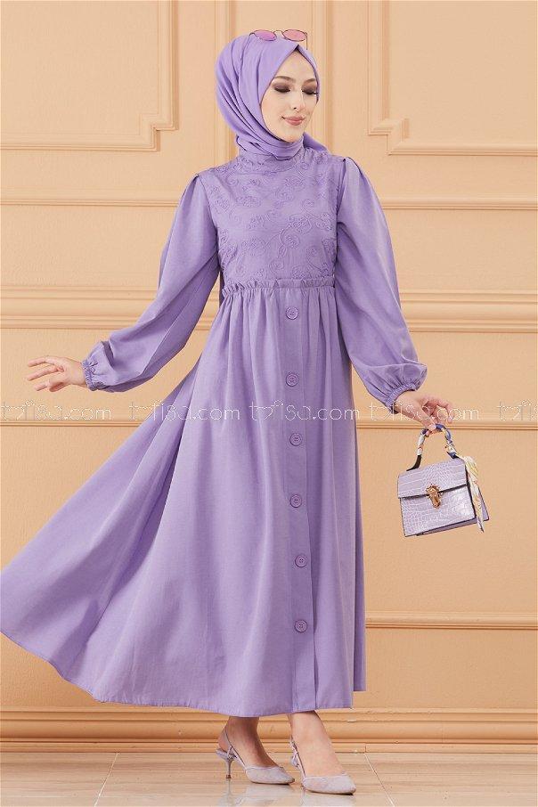فستان لون ليلكي 20163