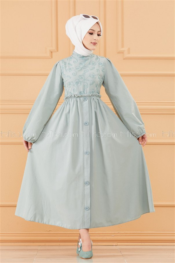 فستان لون ازرق فاتح 20163