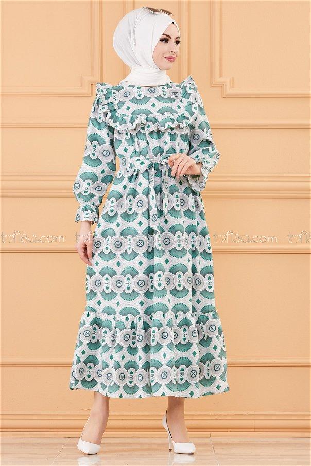 فستان لون اخضر 20168