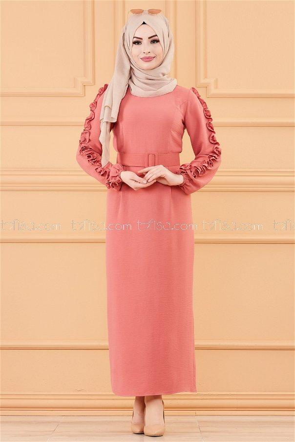 فستان لون وردي 20169