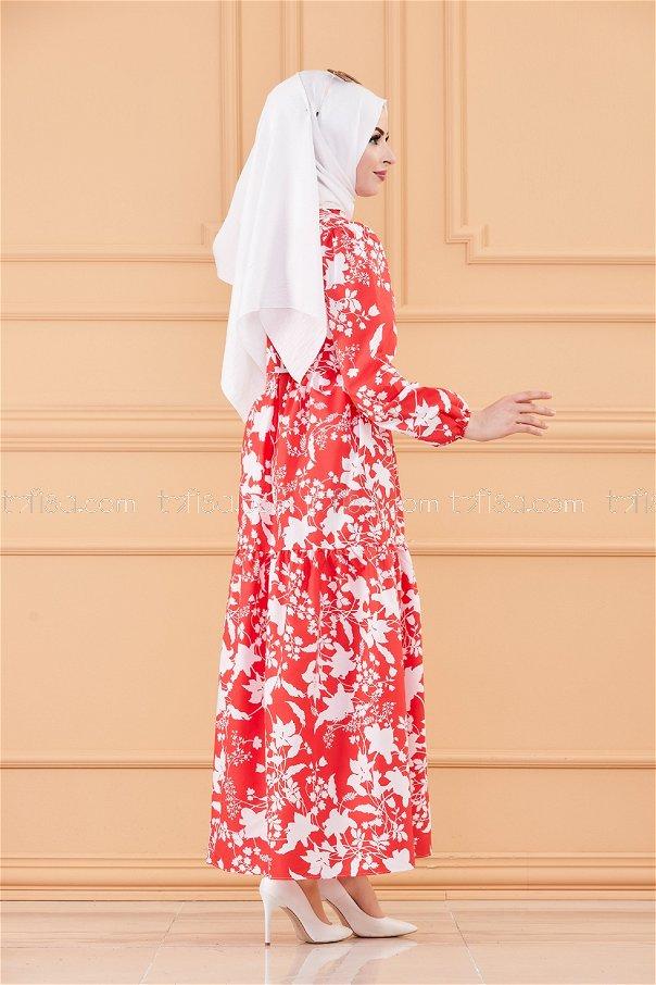 فستان لون احمر 20241