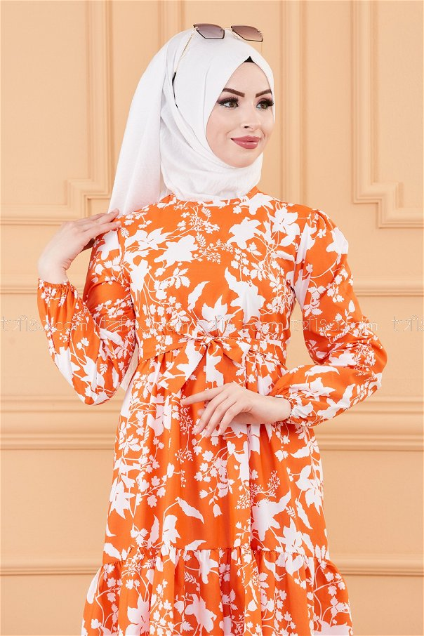 فستان لون اورنج 20241