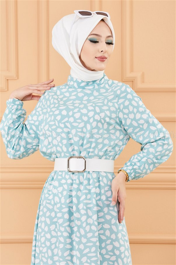 فستان لون ازرق فاتح 20244