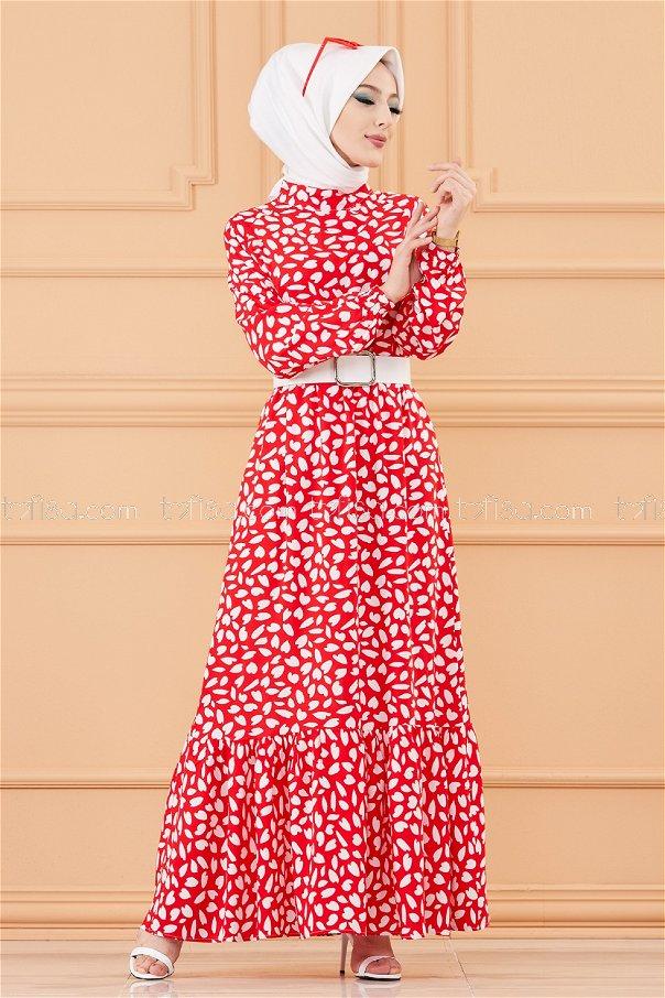 فستان لون احمر 20244