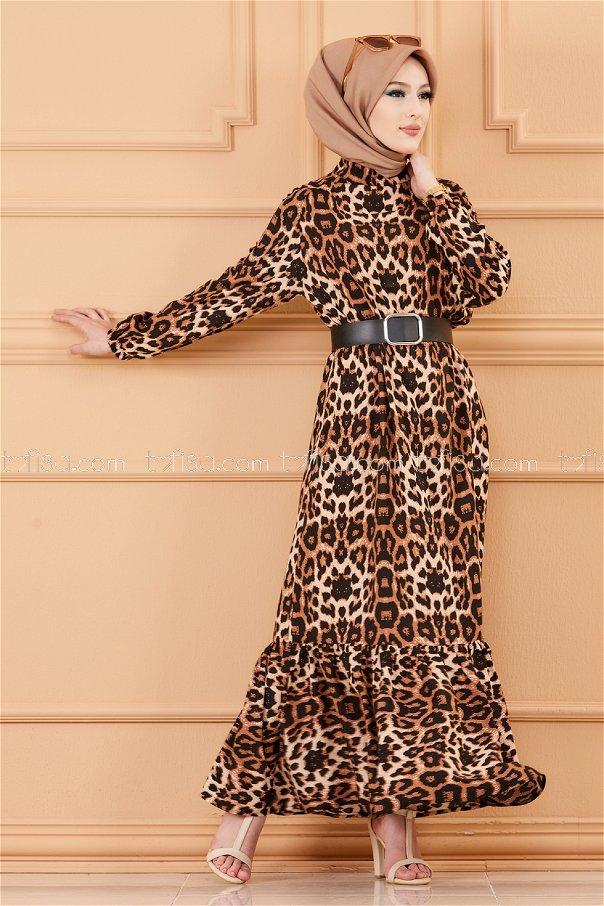 فستان لون جلد النمر 20244