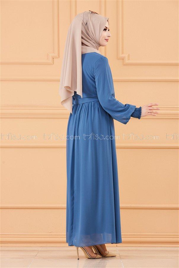 فستان لون ازرق داكن 20268