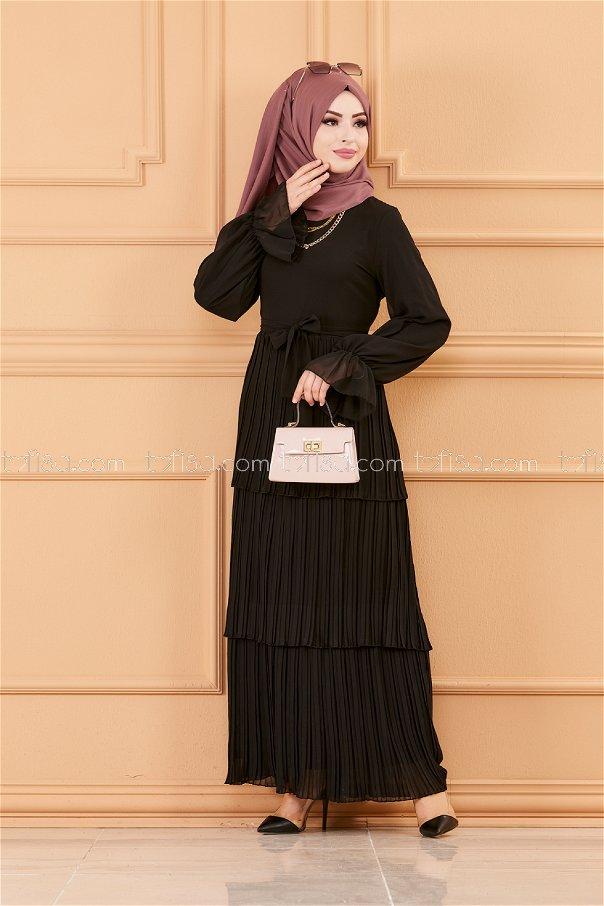 فستان لون اسود 20269*