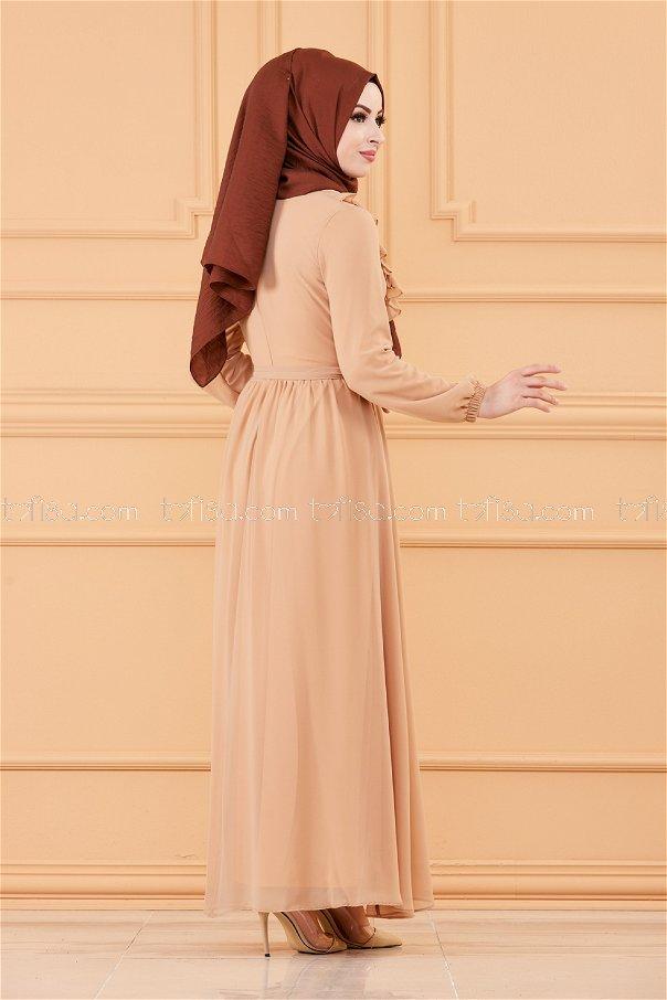 فستان لون بيج 20271