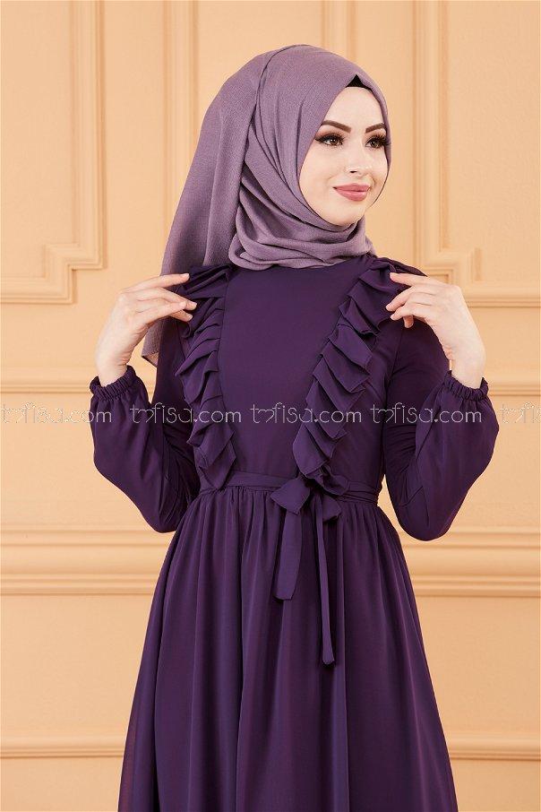 فستان لون موف 20271