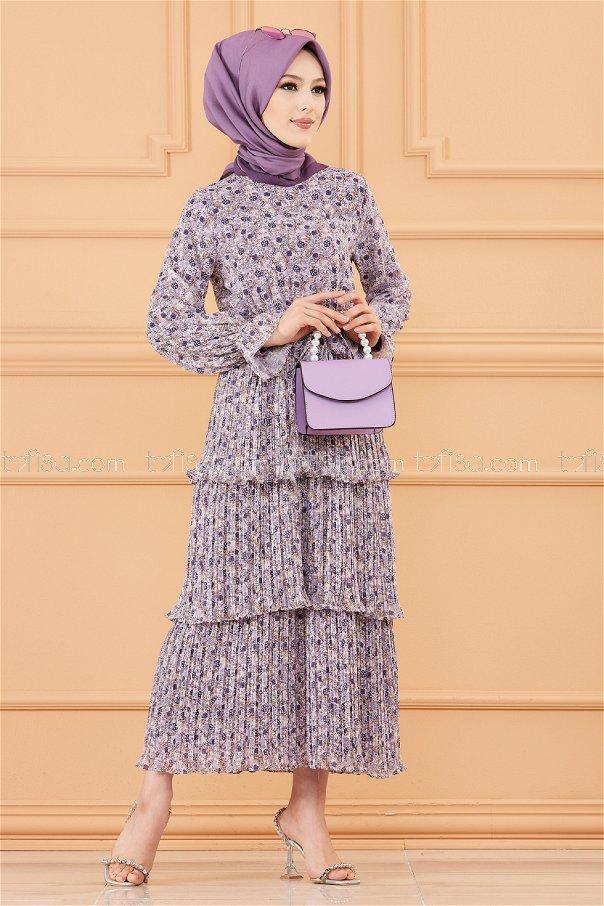 فستان لون ليلكي 20362
