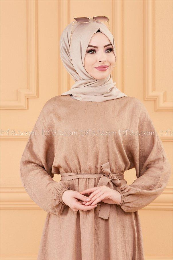فستان لون بيج 20518