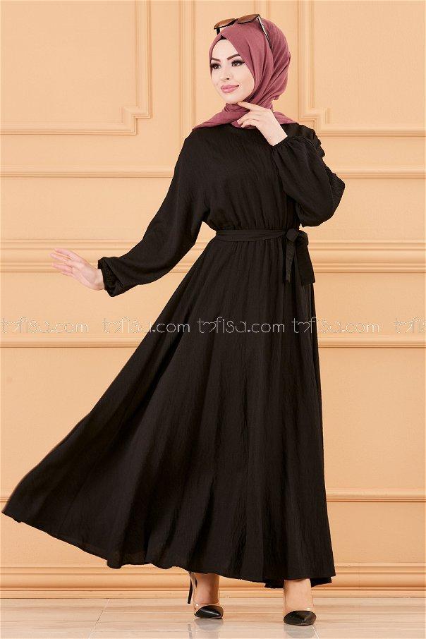 فستان لون اسود 20518