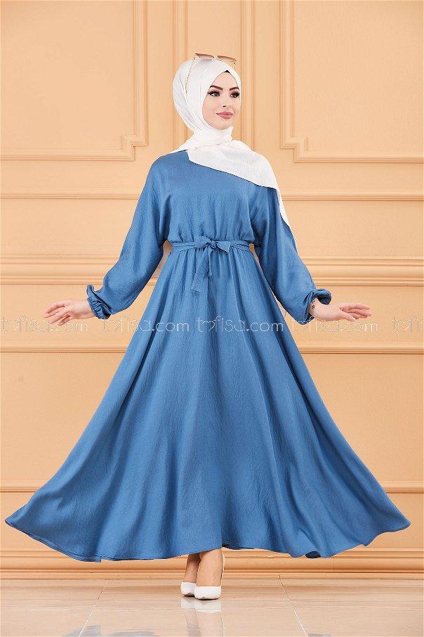 فستان لون ازرق داكن 20518