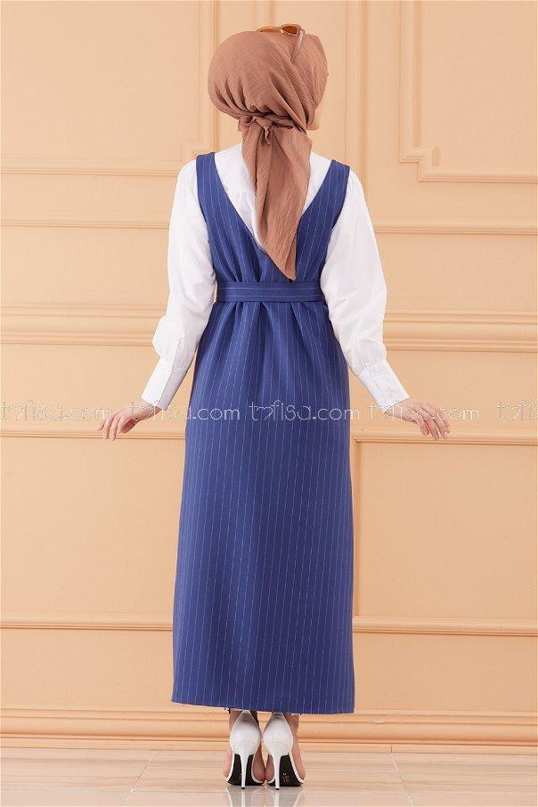 فستان لون ازرق داكن 20549