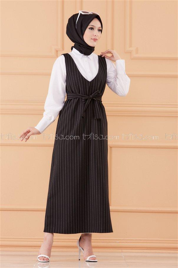 فستان لون اسود 20549