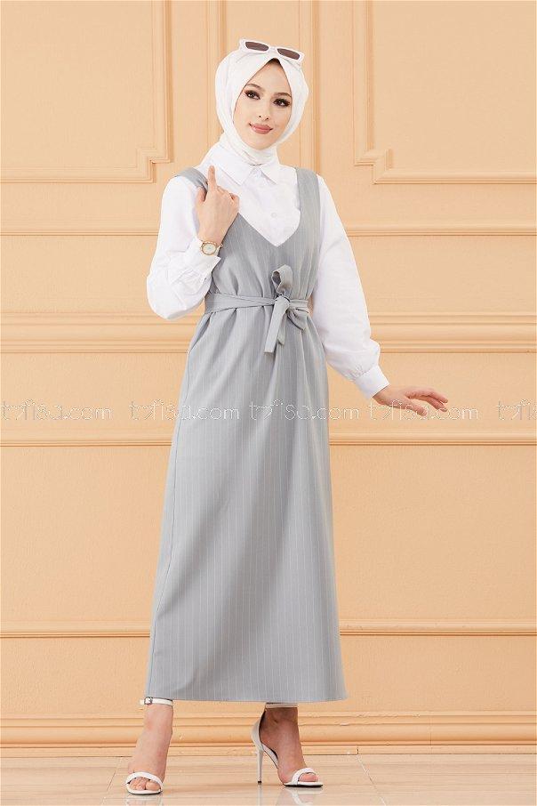 فستان لون ازرق فاتح 20549
