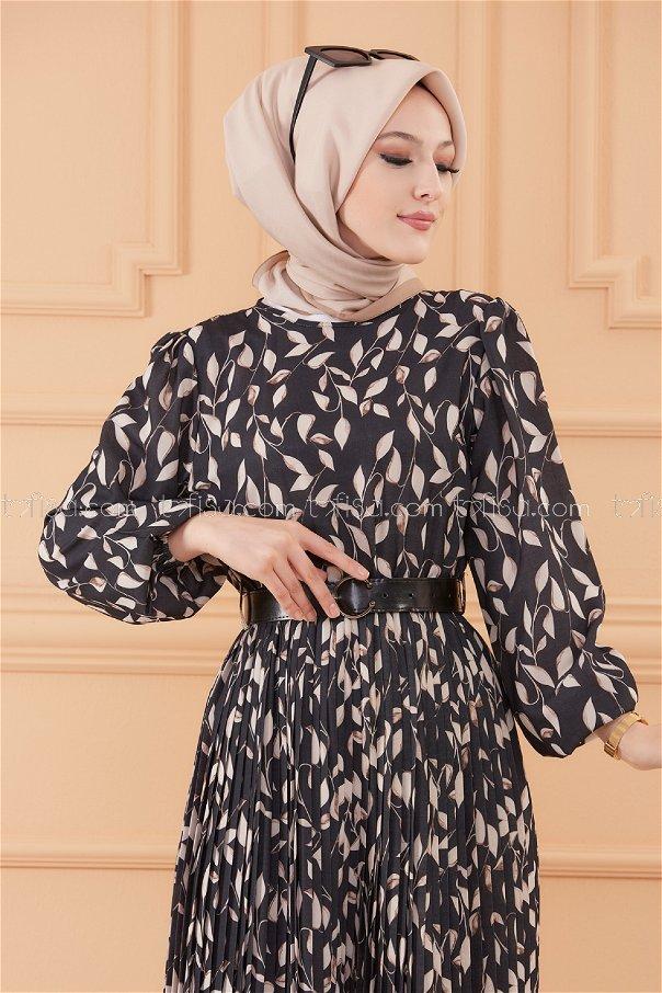 فستان افرول لون اسود 20553