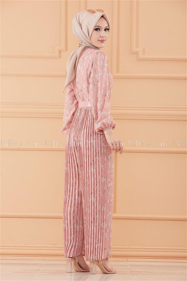 فستان افرول لون وردي 20553