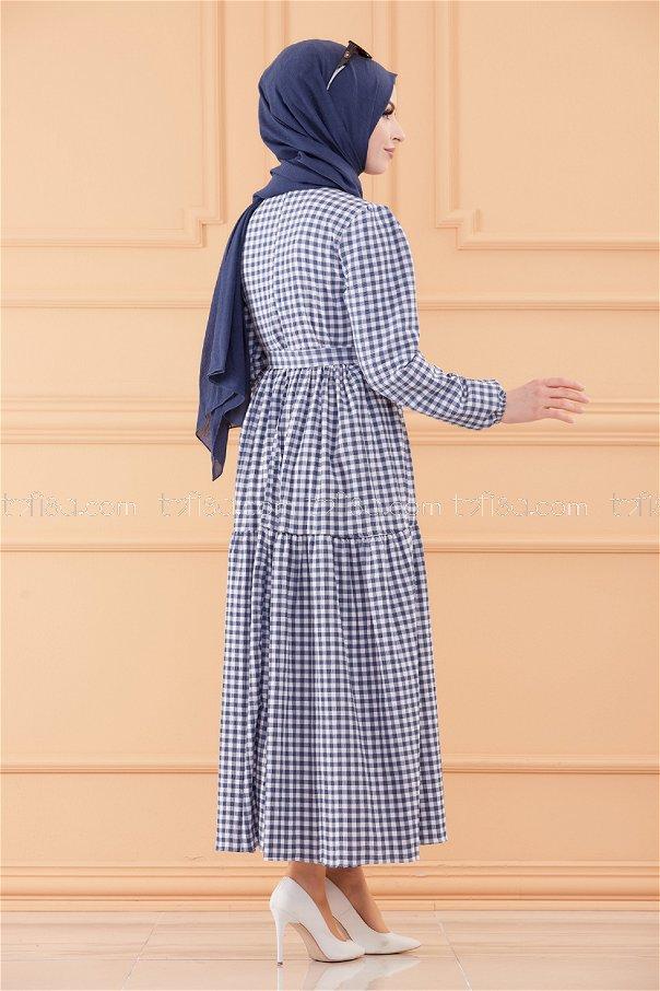 فستان لون ازرق 20565
