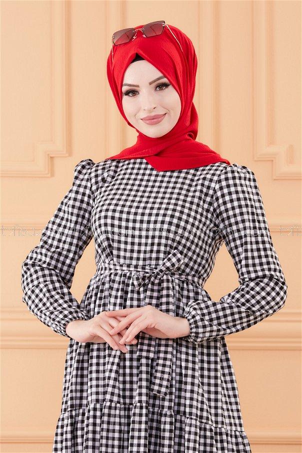 فستان لون اسود 20565