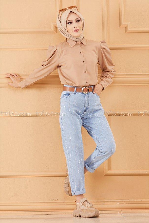 بنطلون جينز لون ازرق فاتح 20614