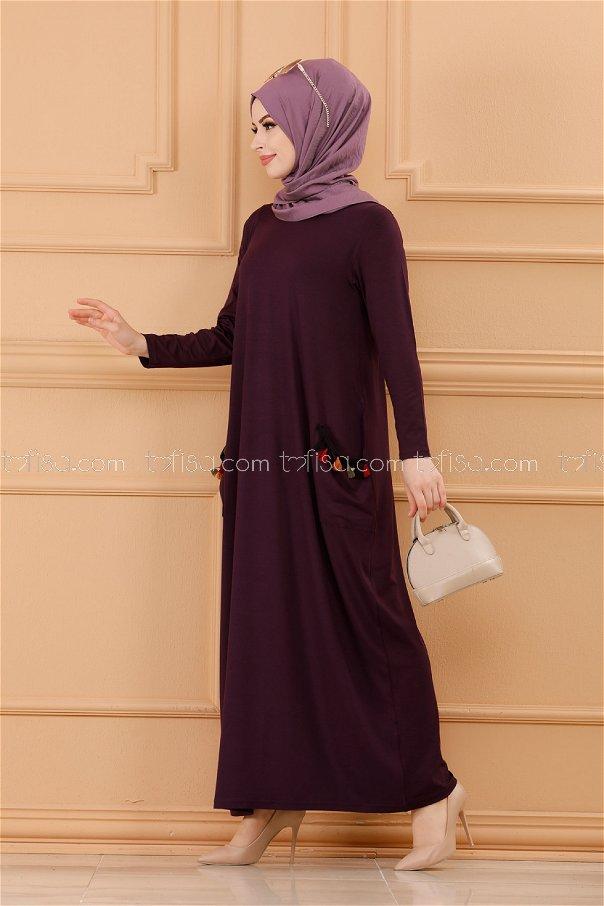 فستان لون موف داكن 20641