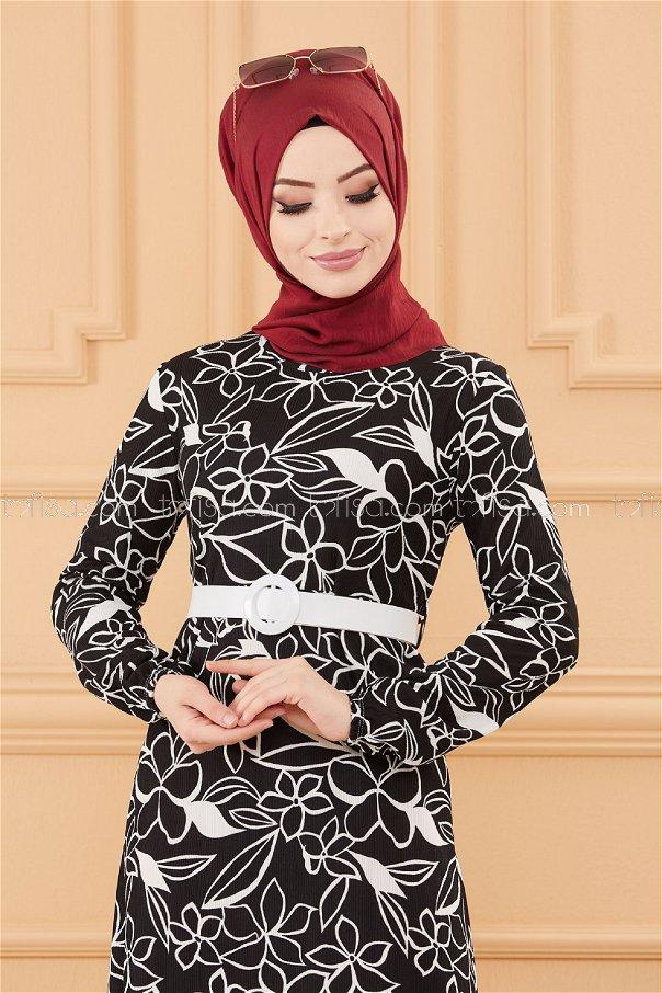 فستان لون اسود 20644