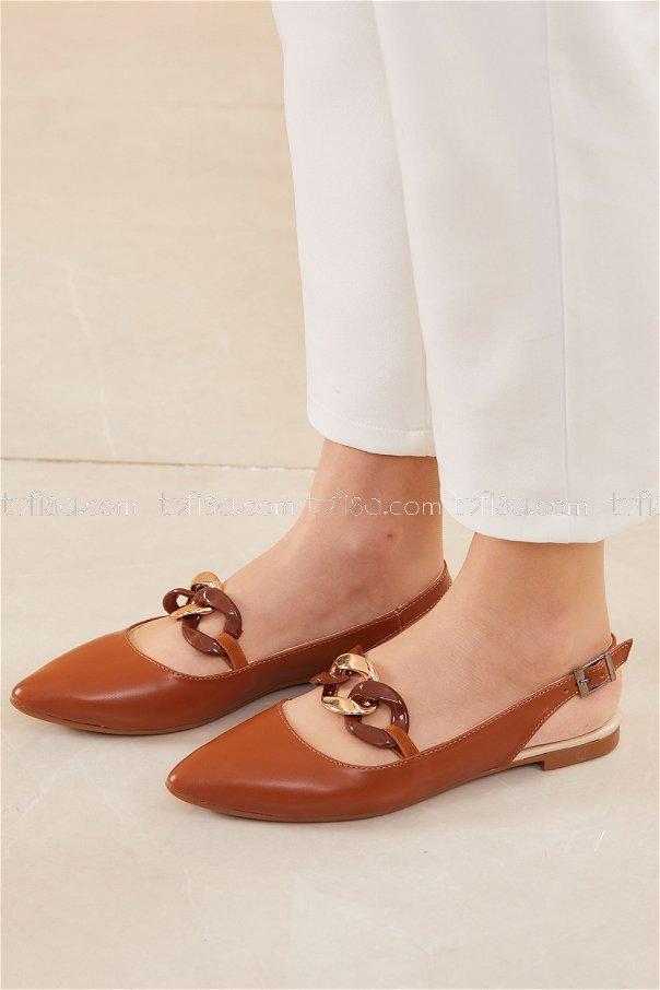 حذاء لون بني 20664
