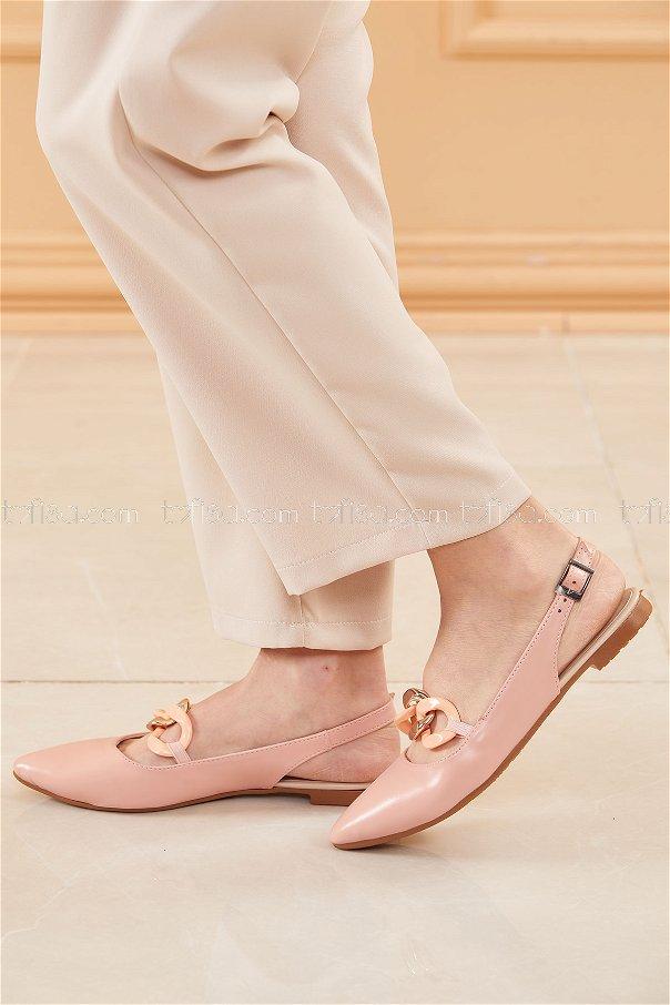 حذاء لون وردي 20664