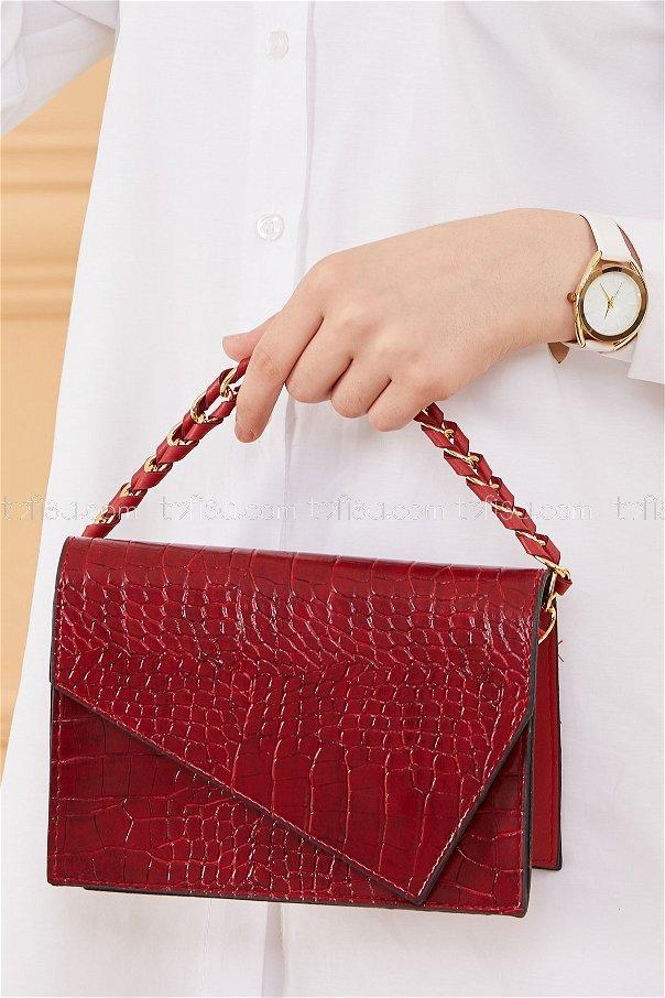 حقيبة لون خمري 20671