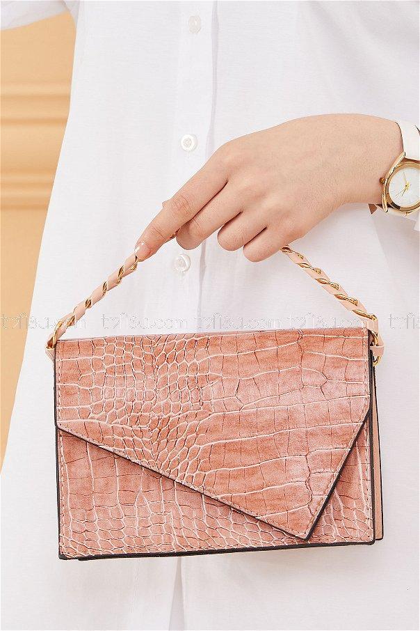 حقيبة لون زهري 20671