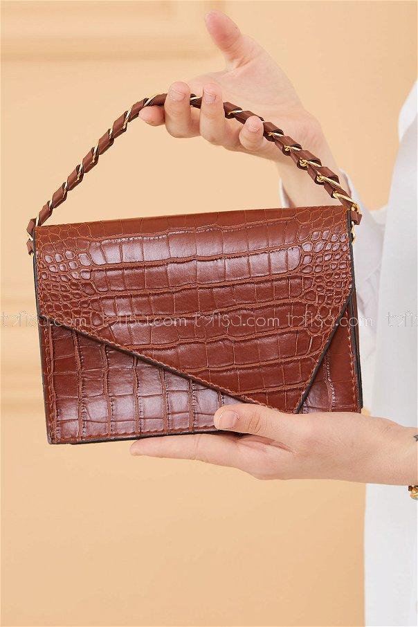حقيبة لون بني داكن 20671