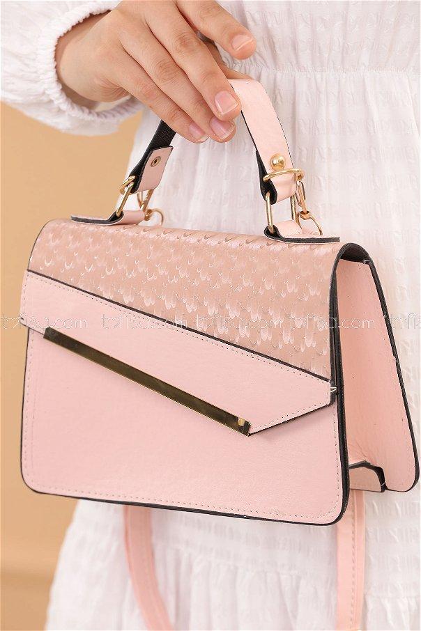 حقيبة لون زهري 20685