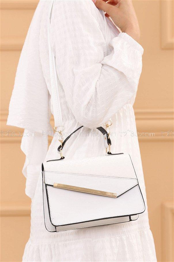 حقيبة لون ابيض 20685