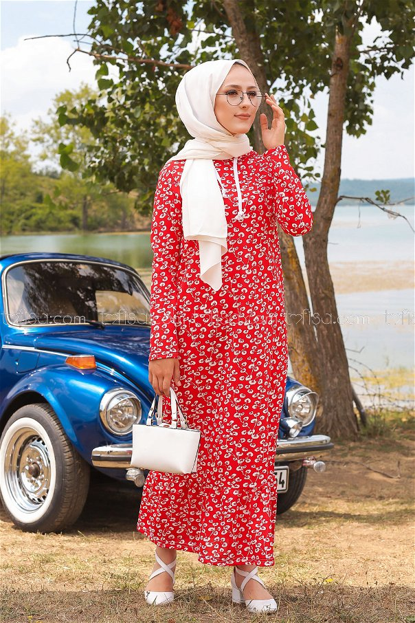 فستان لون خمري 2805