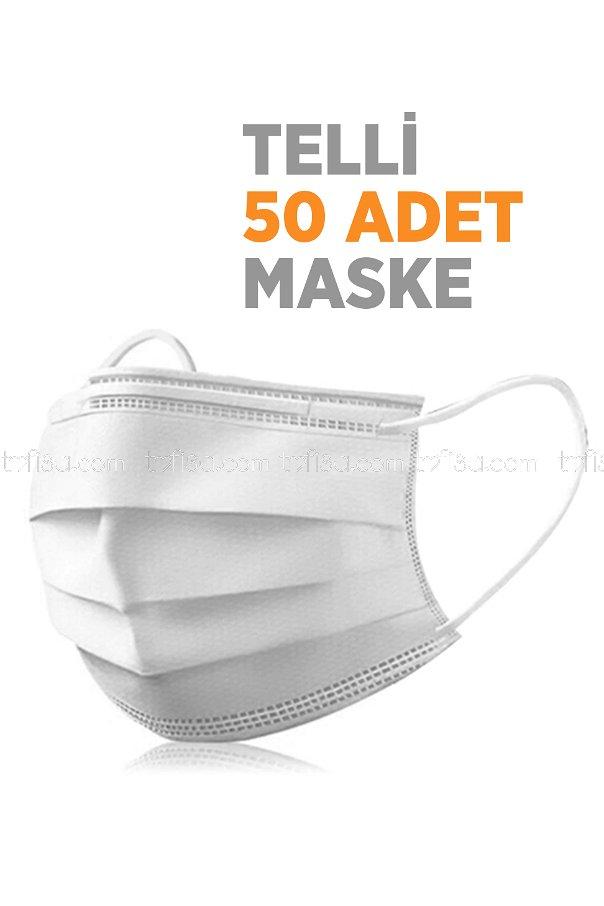 3 Katlı Maske Beyaz - 8622