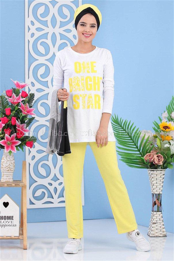 (3 pieces)*** Vest Tunic Pants yellow- 03 5134