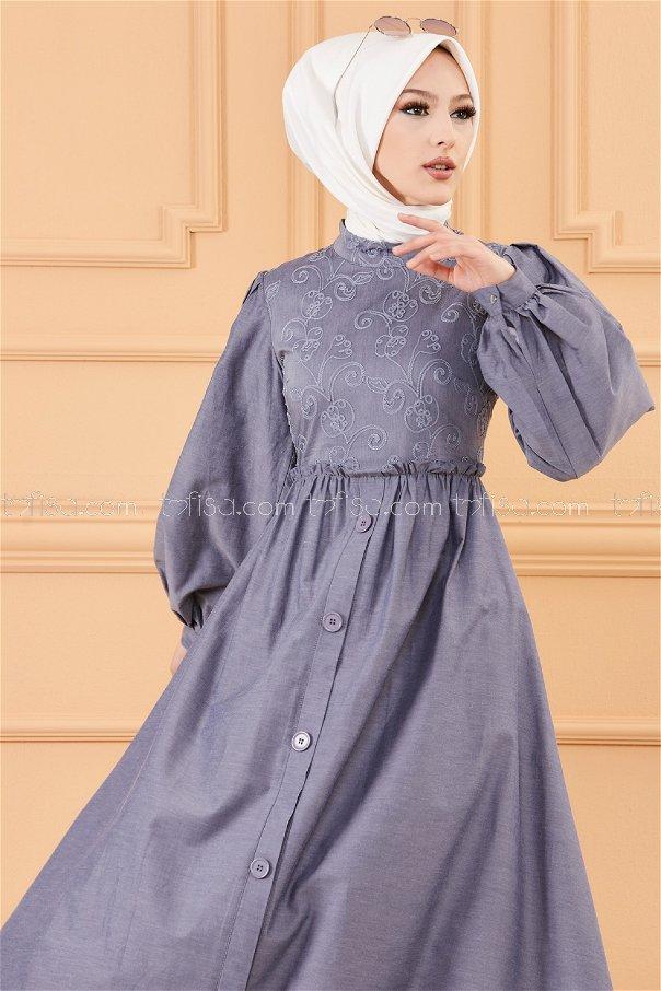 فستان لون رصاصي 30163