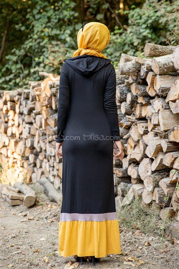 فستان لون خردل 3075