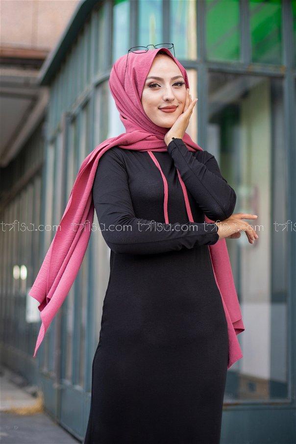 فستان لون زهري 3075