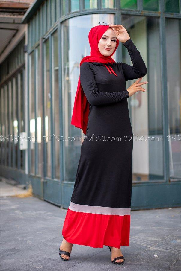 فستان لون احمر 3075