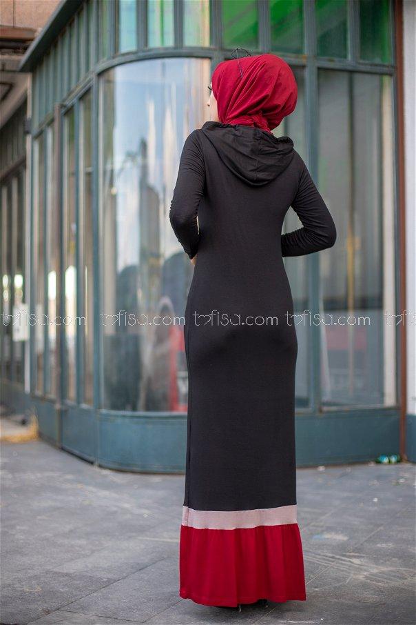 فستان لون خمري 3075