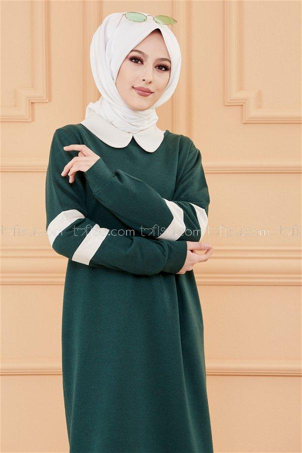 فستان لون زمرد 3080