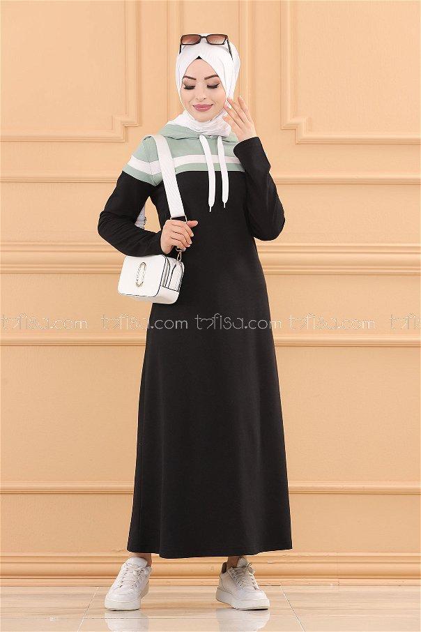 فستان لون ازرق فاتح 3090