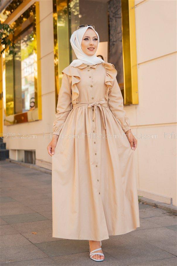 فستان لون بيج 3127