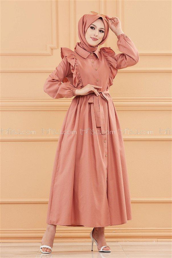 فستان لون وردي 3127