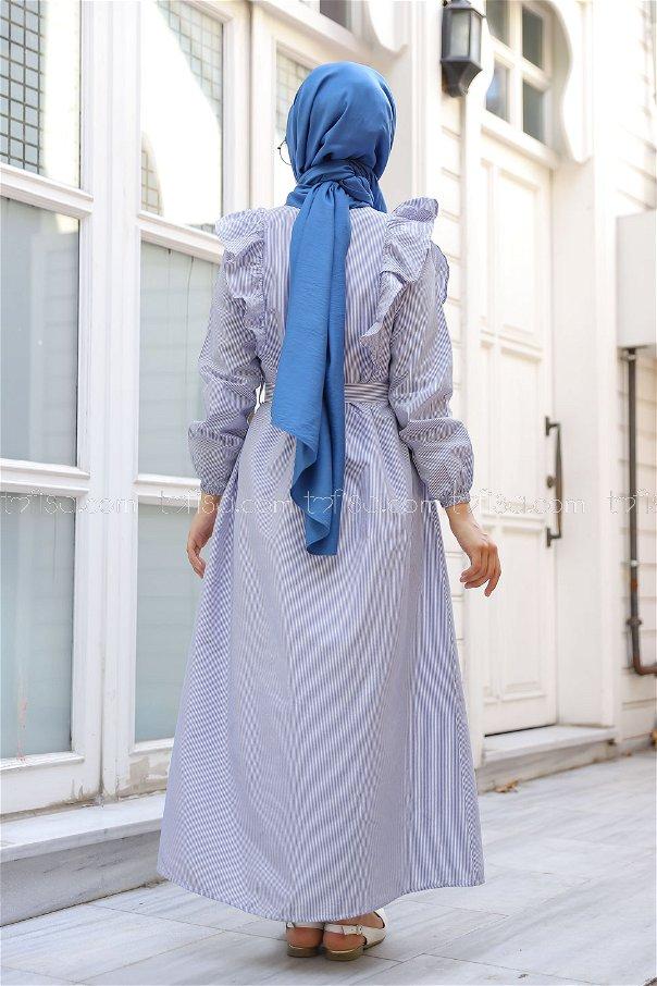 فستان مخطط أزرق - 3233